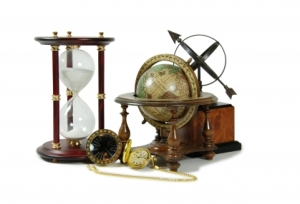 globe and instruments